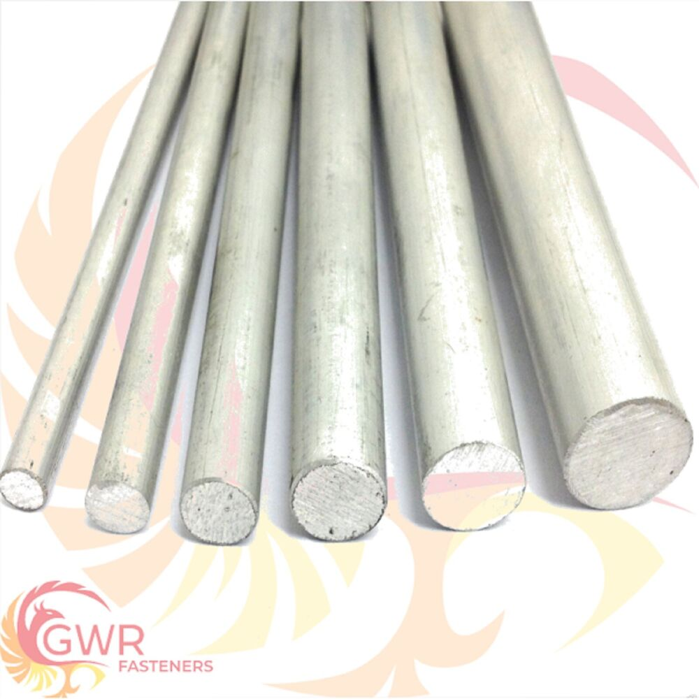 Aluminium round bar rod t various lengths sizes ebay