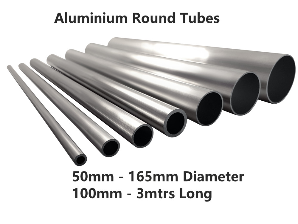 aluminium round tube 50mm 55mm 57mm 63mm 65mm 75mm 100mm 165mm 2 3 4 6 5 ebay. Black Bedroom Furniture Sets. Home Design Ideas