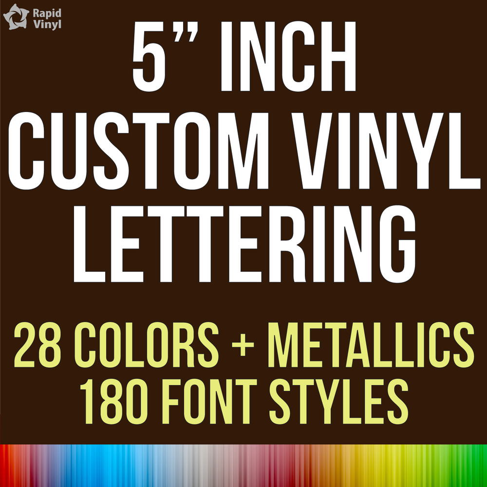 5 custom vinyl lettering text name decal car sticker With personalized vinyl lettering