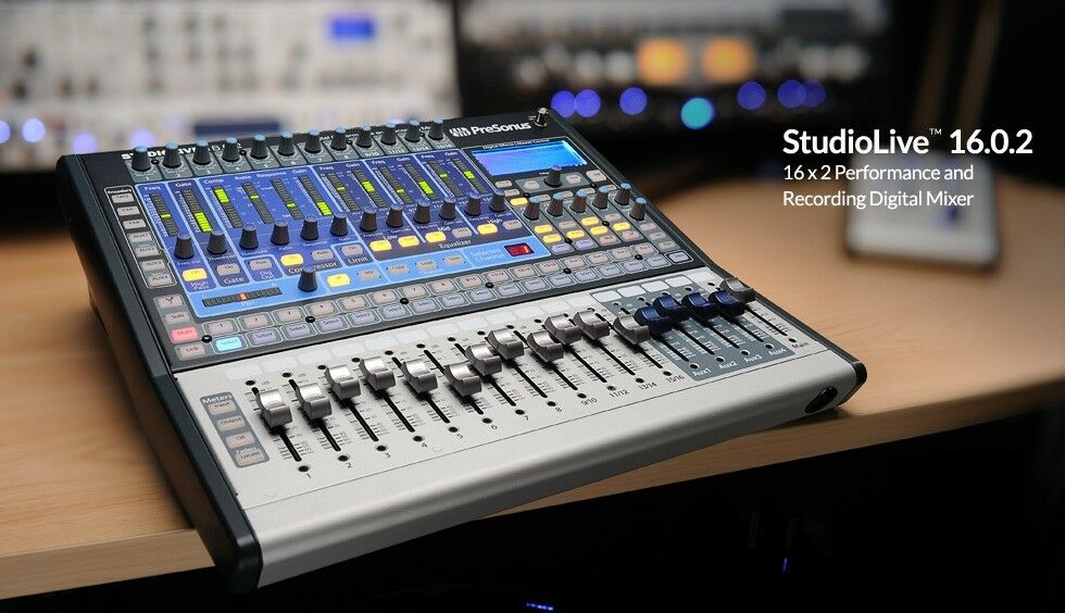 new presonus studiolive 16 0 2 16 channel recording digital mixer console studio ebay. Black Bedroom Furniture Sets. Home Design Ideas