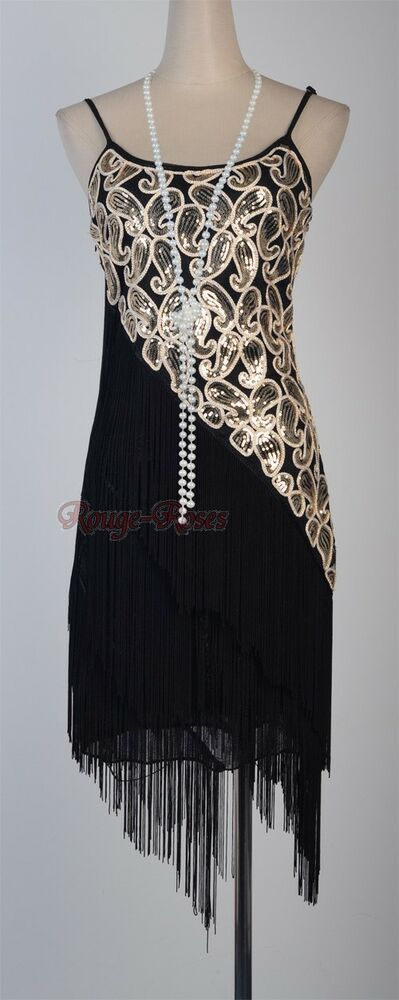 1920 S Flapper Party Clubwear Great Gatsby Sequin Amp Tassel
