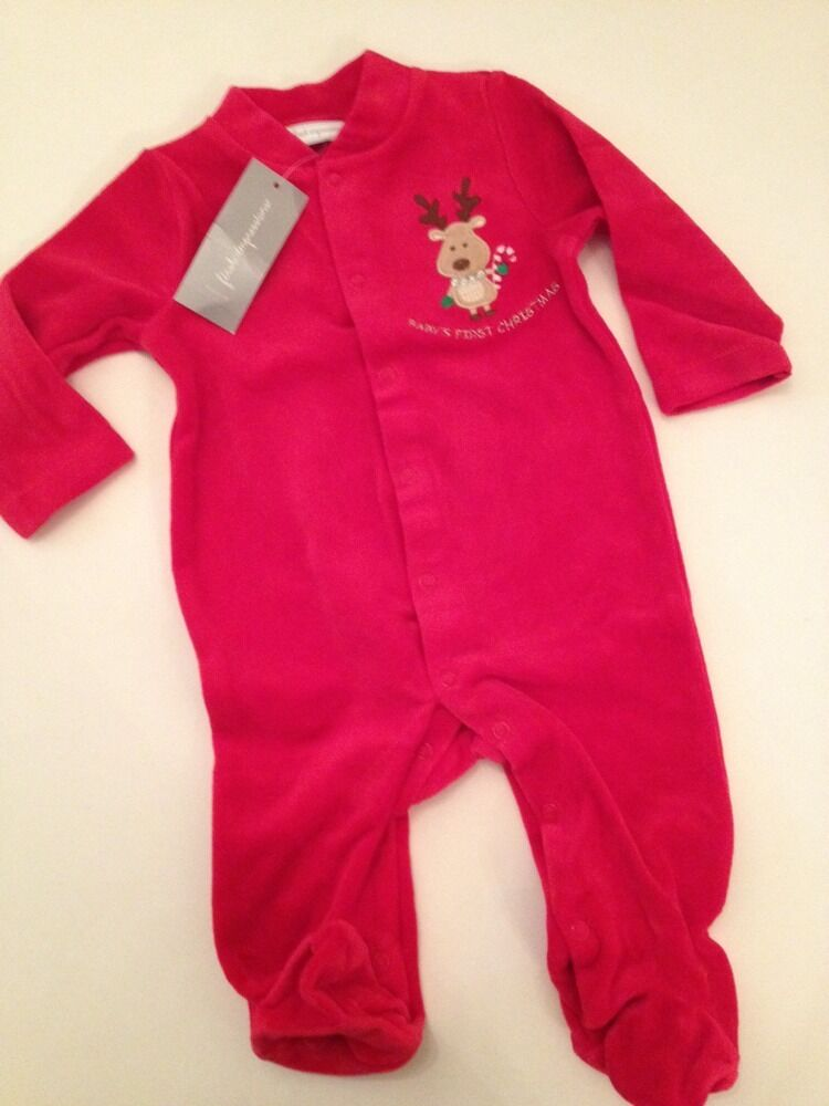 First Impressions Baby Boys Girls 1st Xmas Christmas Red ...