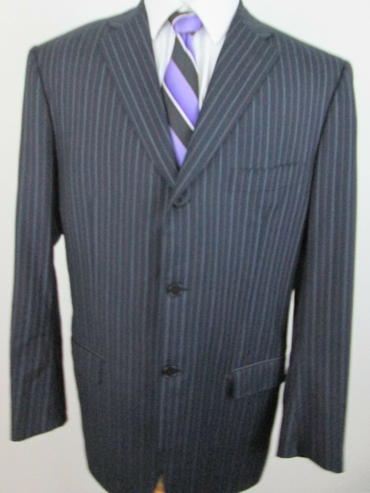 Isaia Napoli Neiman Marcus Mens Size 44R Wool 3 Button ...