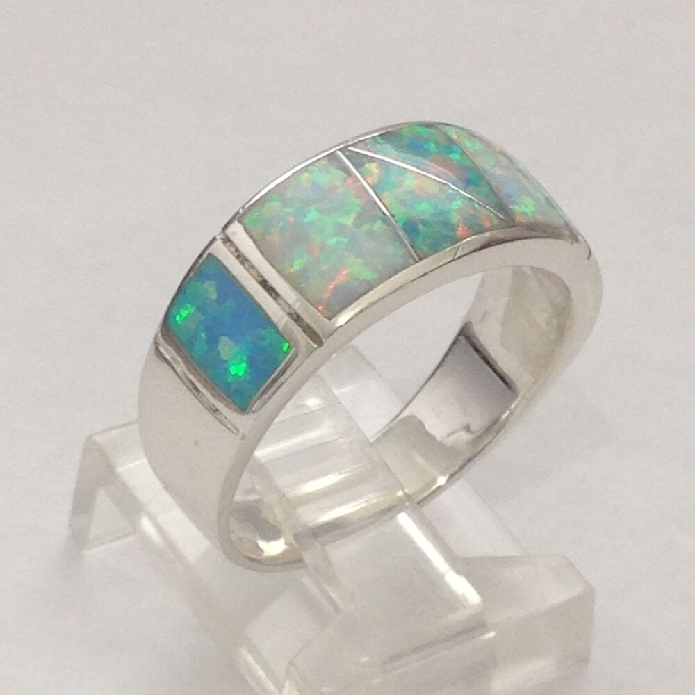 Sterling Silver Inlay Rings