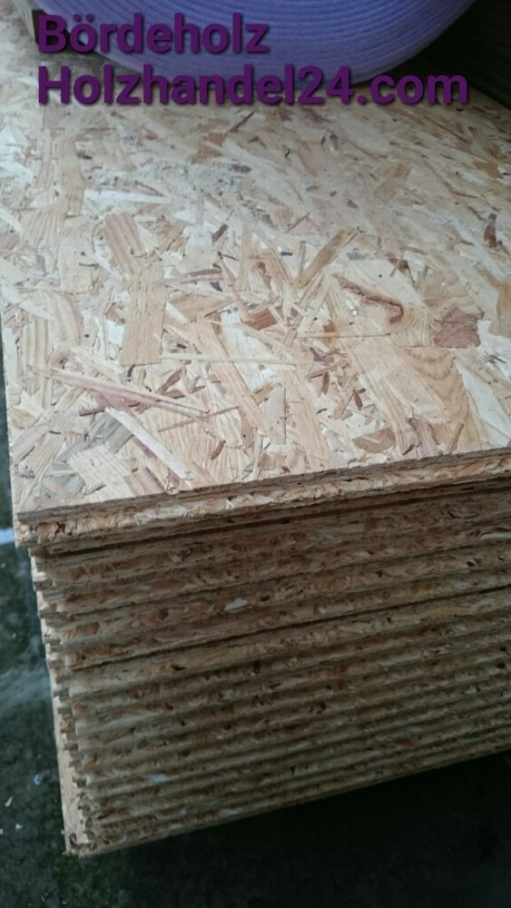 osb platten 15mm verlegeplatten mit nut feder holz dach ebay. Black Bedroom Furniture Sets. Home Design Ideas