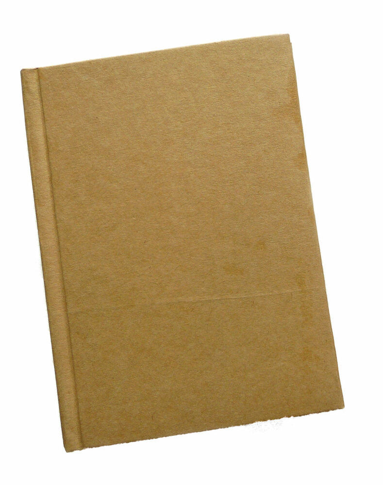 Paper Mache Book Cover : Paper mache plain cover notebook hardback to decorate a