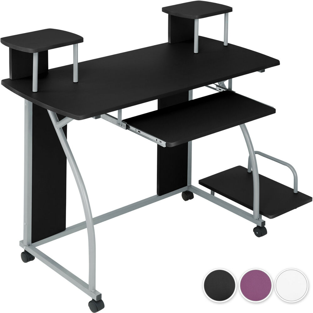 bureau informatique table de travail ordinateur jeunes mobilier meubles pc ebay. Black Bedroom Furniture Sets. Home Design Ideas