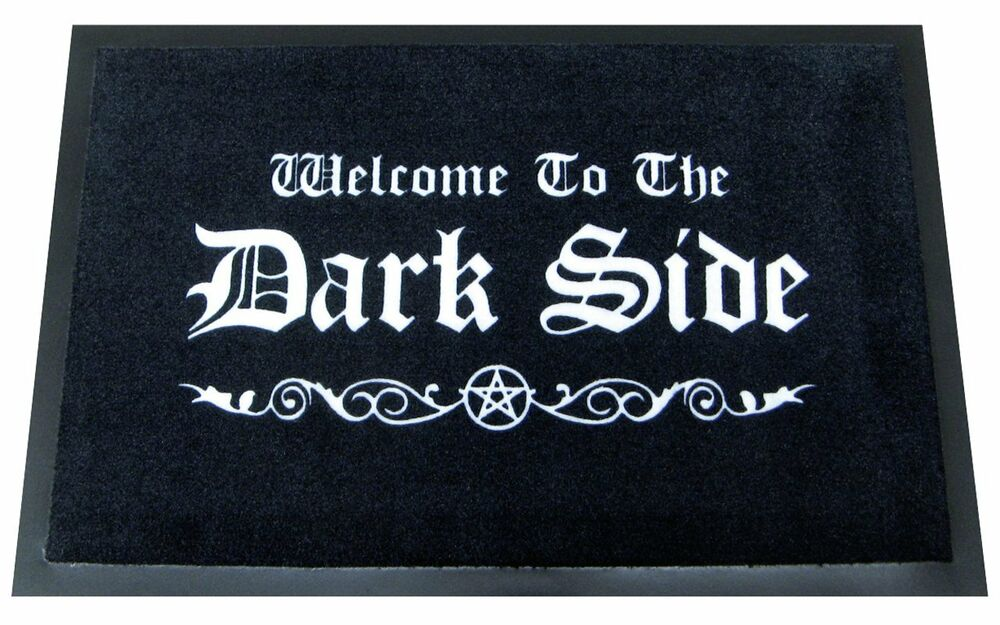 Star wars door floor mat welcome to the dark side ebay for Door mats amazon