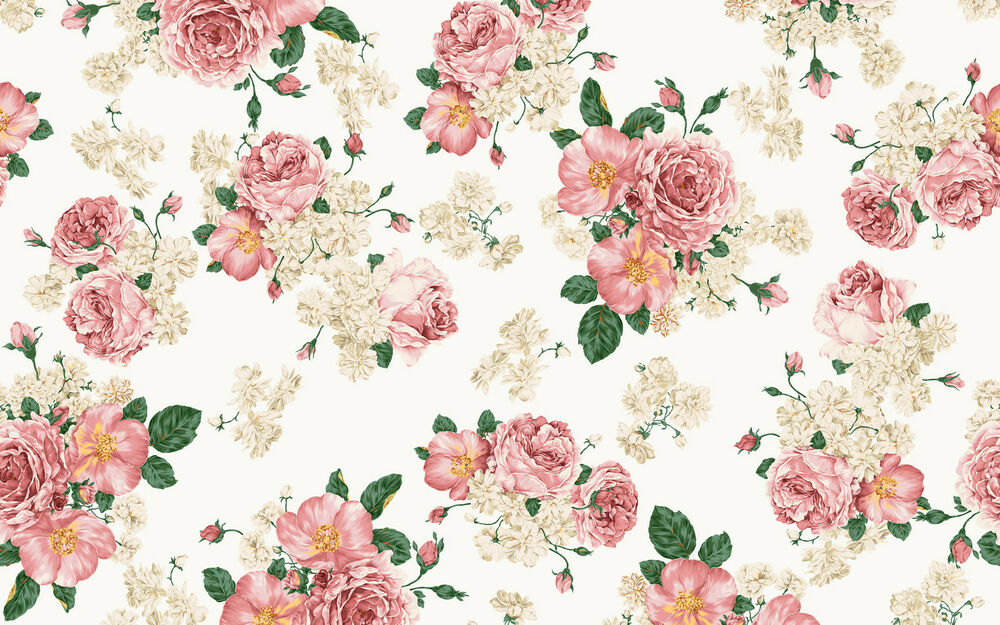 Vintage Floral Rose Wallpaper Vintage Floral Rose Flower