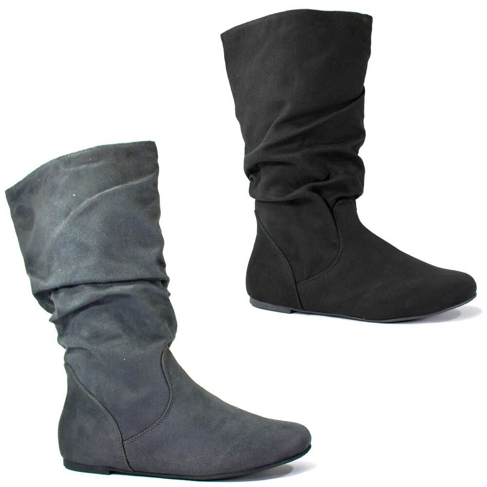 soda zurich s new womens mid calf slouchy flat boots