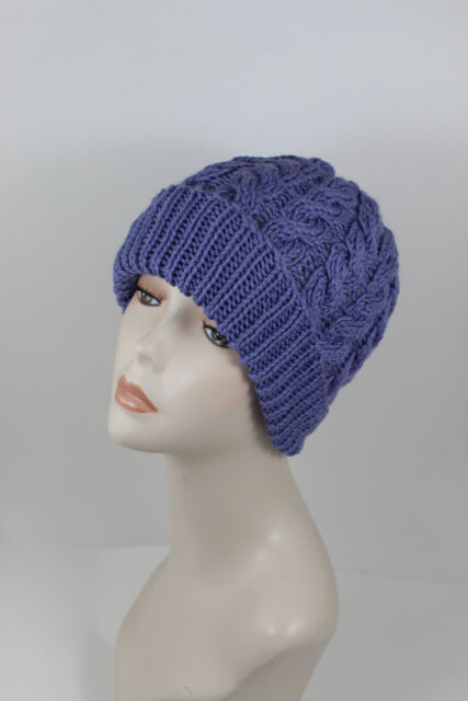 Double Chunky Knitting Patterns : PRINTED INSTRUCTIONS - CHUNKY DOUBLE TWIST CABLE BEANIE HAT KNITTING PATTERN ...