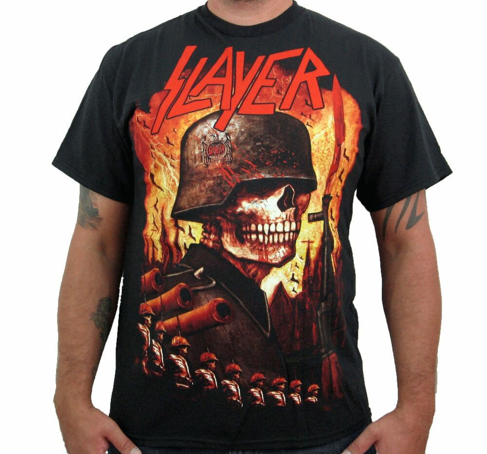 slayer invasion men 39 s t shirt ebay. Black Bedroom Furniture Sets. Home Design Ideas