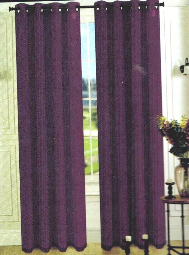 Sheer Plum Curtains