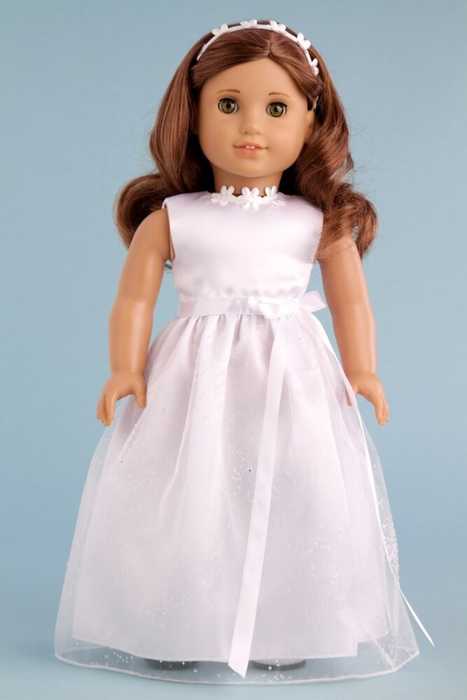 My first communion clothes for american girl doll for American girl wedding dress
