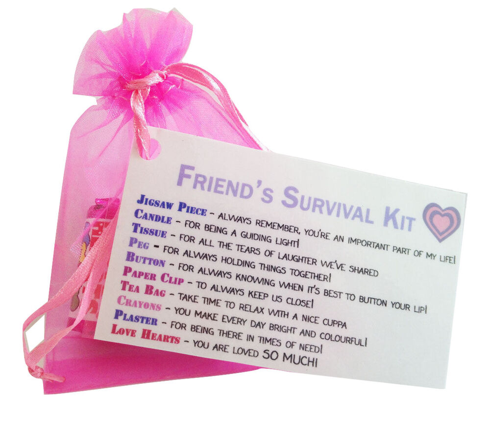 18th Birthday Survival Kit Birthday Gift Novelty Present: Special Friend Gift- Little Bag Of Friendship