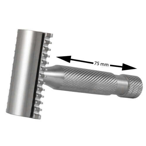 Above The Tie Atlas H2 Open Comb Stainless Steel Safety Razor (Atlas-H2-OC)