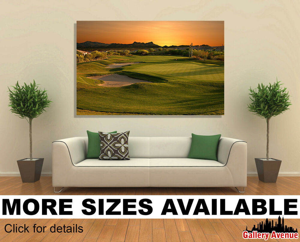 Wall art canvas picture print golf course in arizona at for Picture wall decor