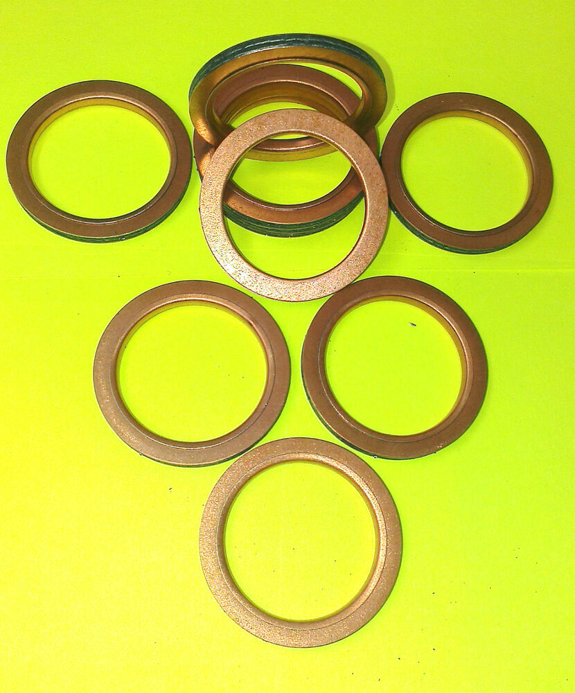 COPPER EXHAUST GASKETS SEAL MANIFOLD GASKET RING Z 1000