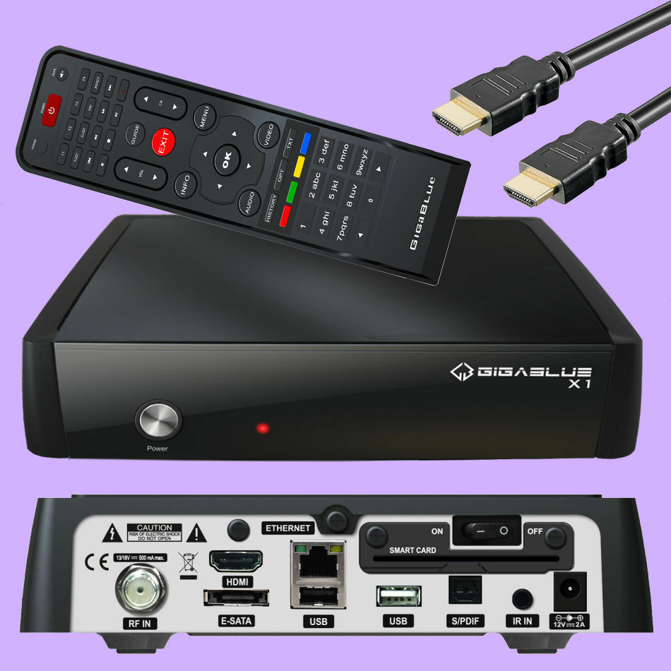 gigablue hd x1 nachfolger se plus v2 800 full hdtv iptv sat receiver usb hdmi tv ebay. Black Bedroom Furniture Sets. Home Design Ideas