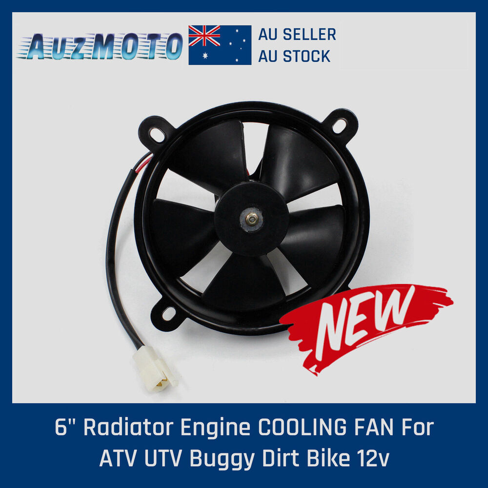 12v Cooling Fan : V inch thermo radiator cooling fan pit trial dirt