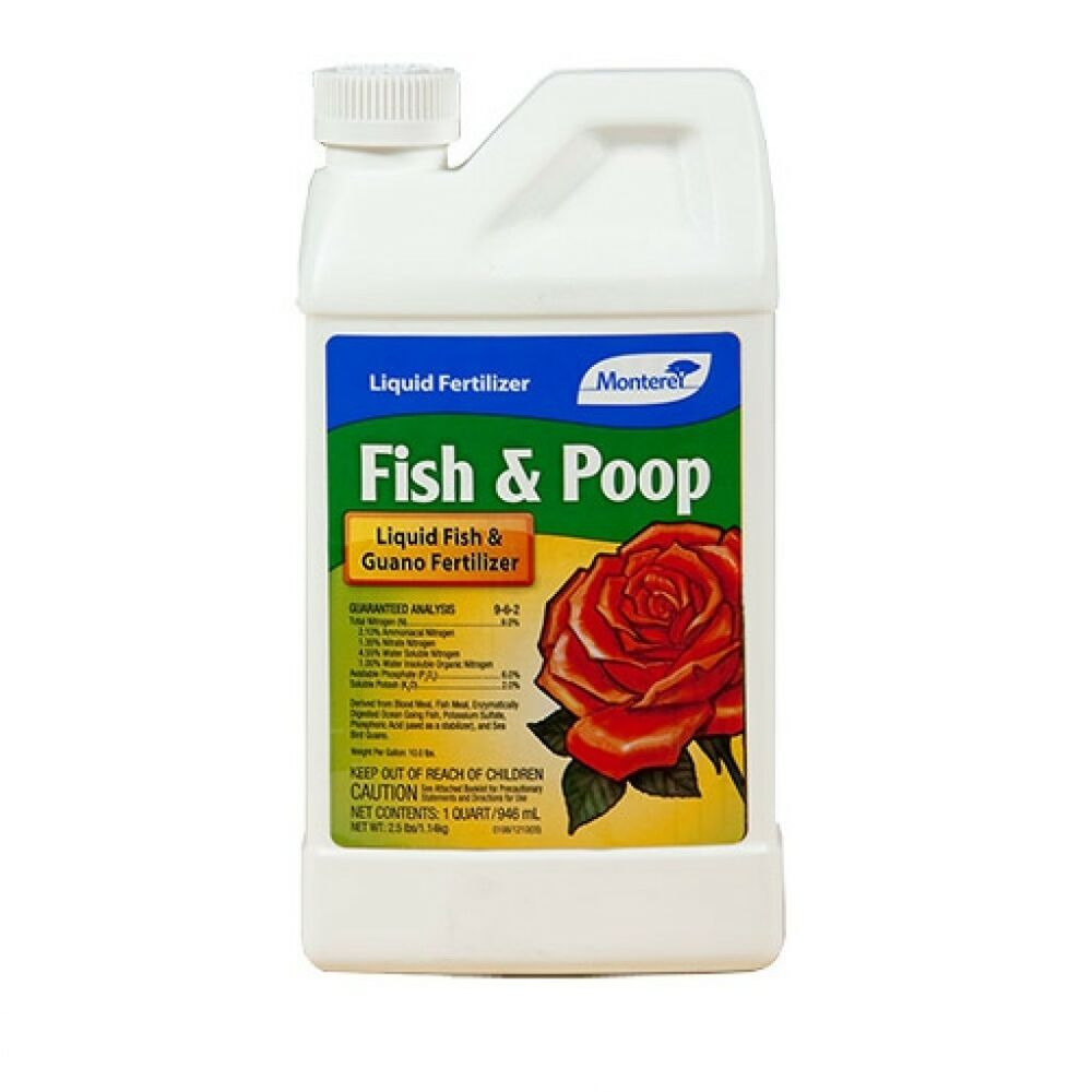 Monterey conc qt fish poop 9 6 2 liquid fish guano for Liquid fish fertilizer