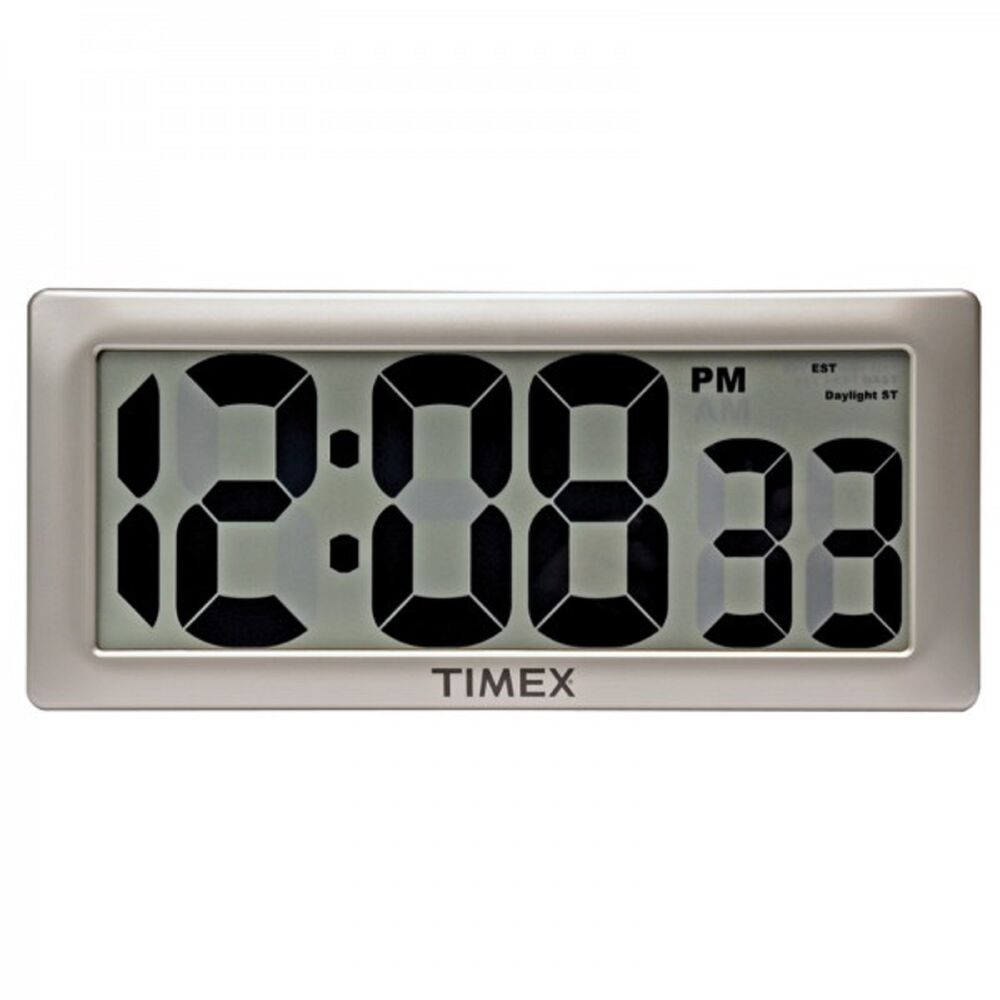 75071t timex intelli time digital wall clock 13 5 extra