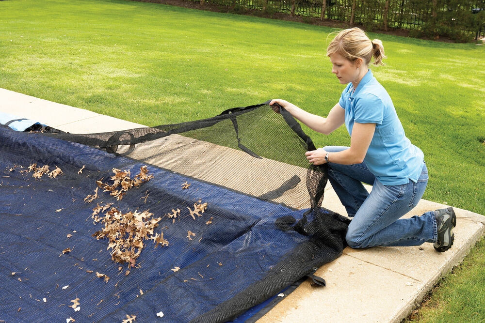 leaf net cover for in ground swimming pool winter covers rectangle sizes ebay