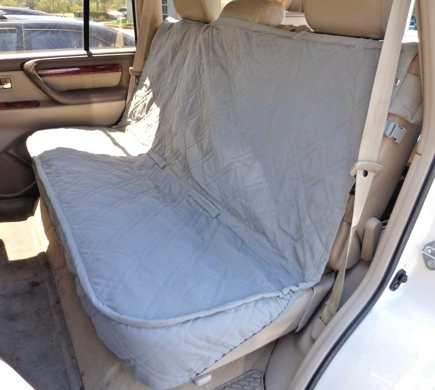 Luxury Dog Cat Pet Car Back Seat Back Bench Cover Quilted