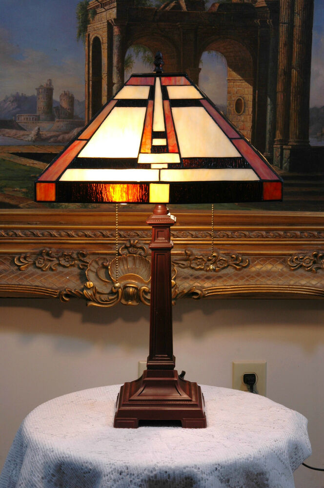 14 5 Quot W Mission Style Stained Glass Tiffany Style Table