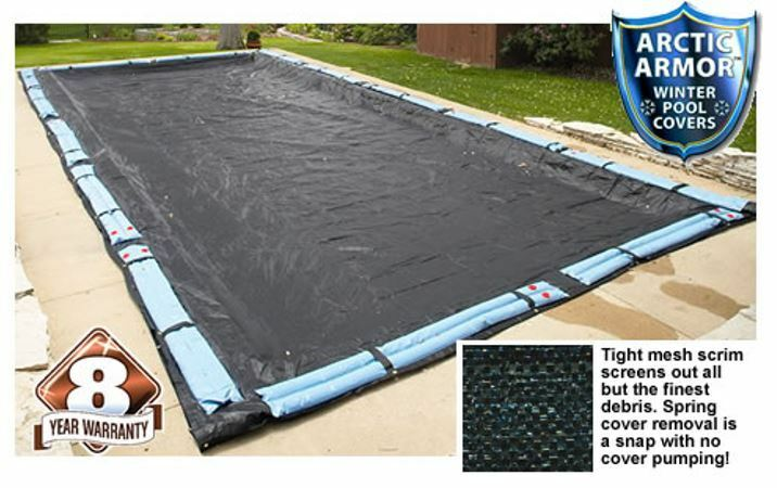 Swimming Pool Rugged Mesh Rectangle Winter Cover In Ground Pools Arctic Armor Ebay