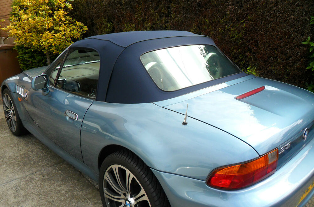 Bmw Z3 Blue Mohair Hood Soft Top Roof 163 720 Fitted