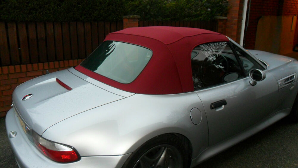 Bmw Z3 Burgundy Mohair Hood Soft Top Roof 163 760 Fitted