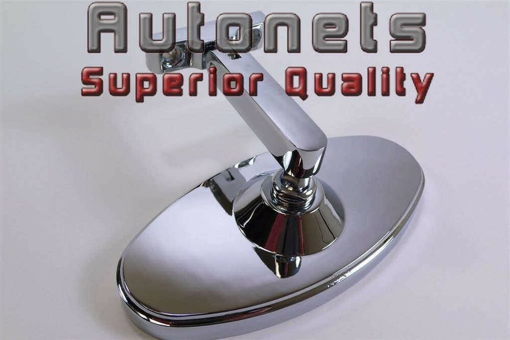 Bolt On Chrome 5 Quot Oval Interior Rear View Mirror Hot Rod