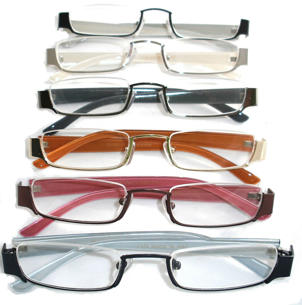 Eyeglasses With No Bottom Frame : HALF RIM HALF RIMLESS FRAME READING GLASSES CHEATERS SPECS ...