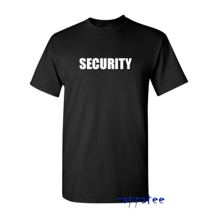 img-SECURITY T Shirt - Black tee for doormen bouncers concerts clubs pubs etc
