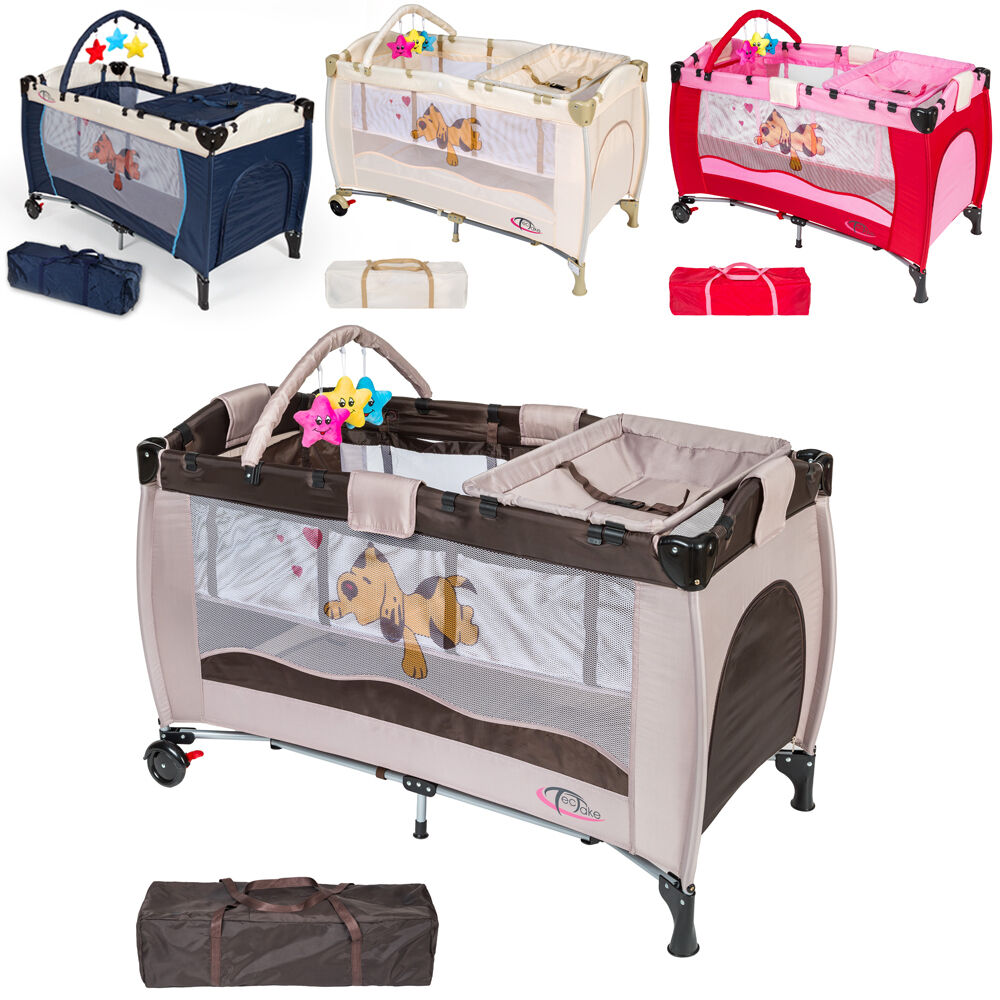 new portable child baby travel cot bed playpen with entryway ebay. Black Bedroom Furniture Sets. Home Design Ideas