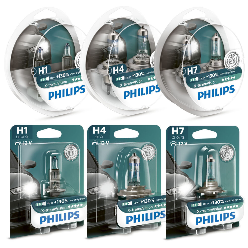 philips xtreme vision 130 headlight bulbs h1 h4 h7. Black Bedroom Furniture Sets. Home Design Ideas