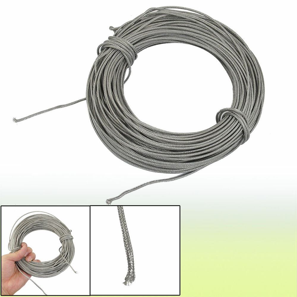 Thermocouple Wire Next To The Silver : M silver tone metal k type thermocouple extension wire