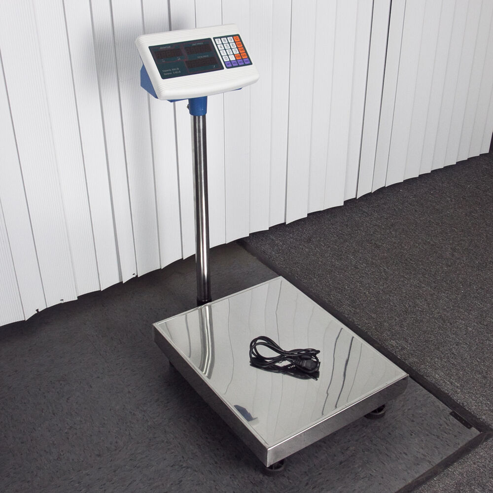 600 lb weight computing scale digital floor platform for Scale floor