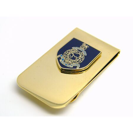 img-THE ROYAL MARINES BADGE MONEY CLIP NAVY MILITARY GIFT IN POUCH