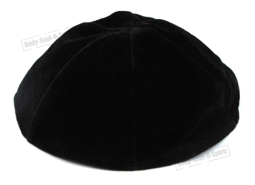 black velvet beanie kippah yarmulke kippa israel tribal jewish hat covering cap ebay. Black Bedroom Furniture Sets. Home Design Ideas