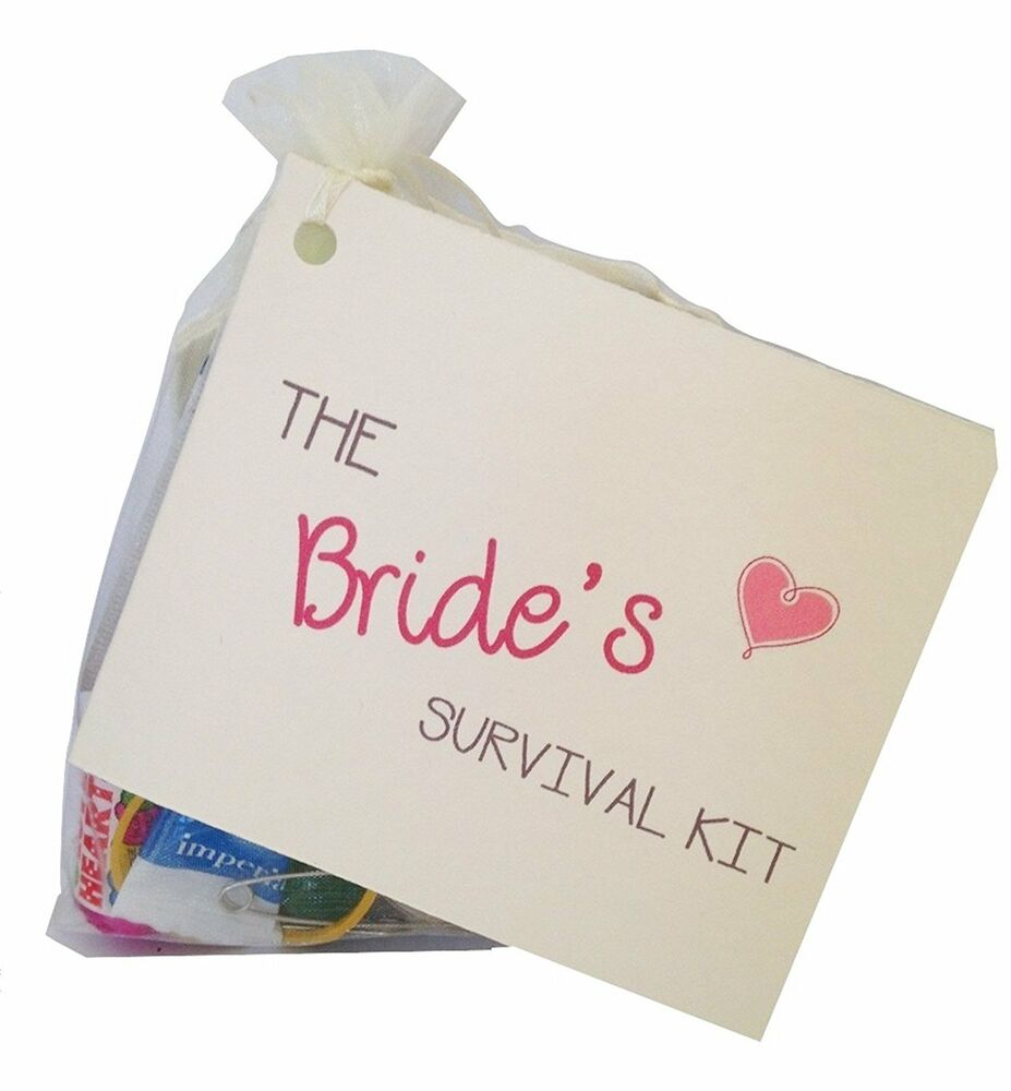 Gifts On Wedding Day For Bride: Bride Survival Kit Fun Keepsake Novelty Gift Wedding Day