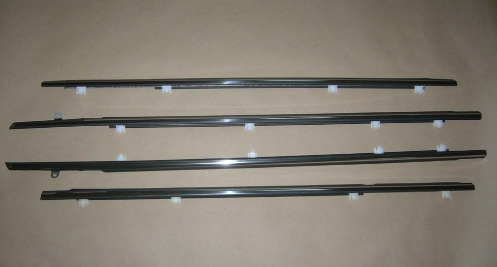 Weatherstrip Window Chrome Trim Glass Door Belt Rubber For