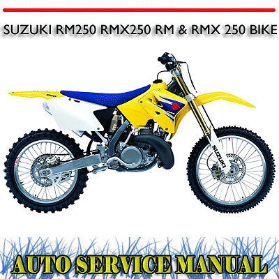 suzuki rm125 dirt bike 2 stroke full service repair manual 1996 2007