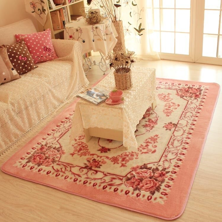pink rugs for bedroom pink european floral floor mat rug carpet 16752