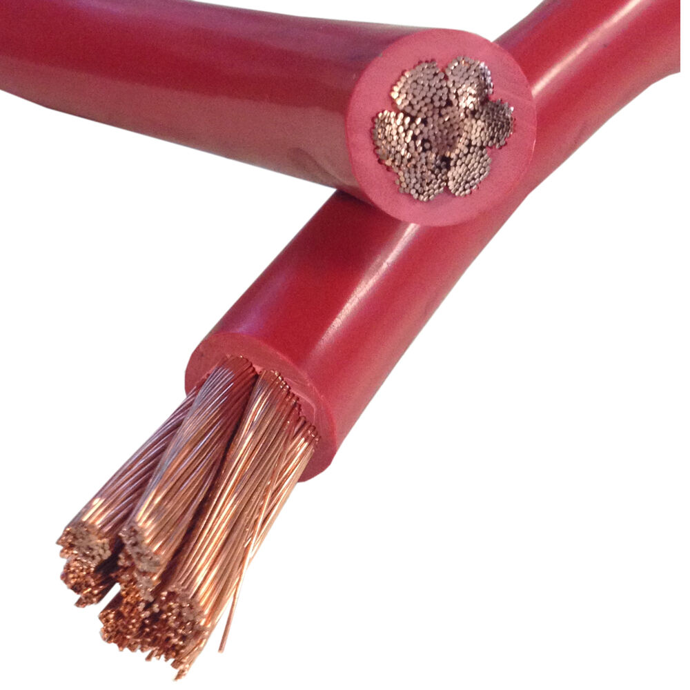 Red Battery Cable : Gauge red battery cable sold per foot ebay
