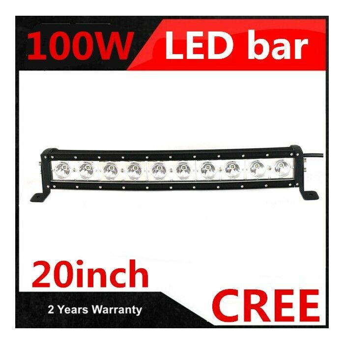 High Power 200w 20 Inch Jeep Accessories Led Light Bar For: 100W 20 Inch CREE SINGLE ROW CURVED LED LIGHT BAR OFFROAD