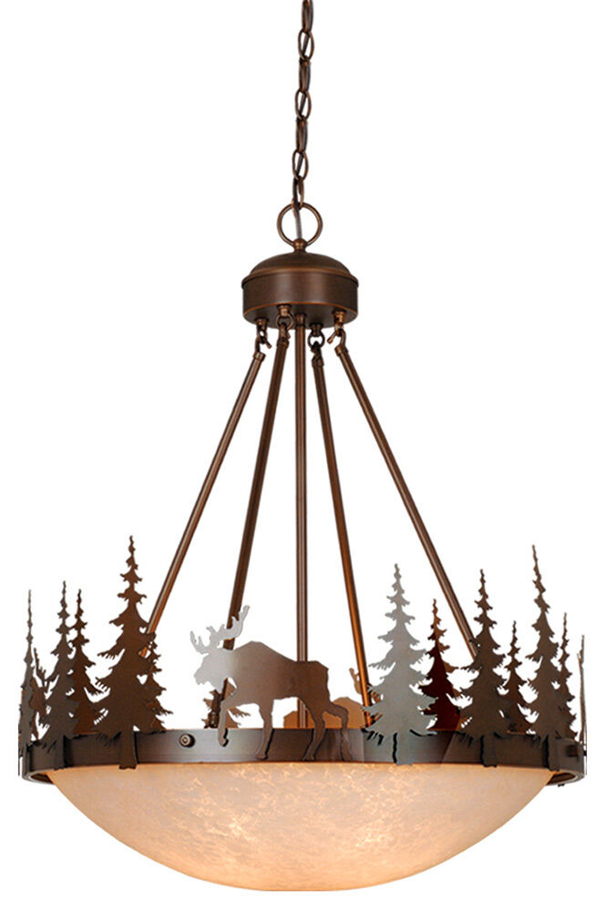 Wildlife Vaxcel Yellowstone Lodge Country Chandelier