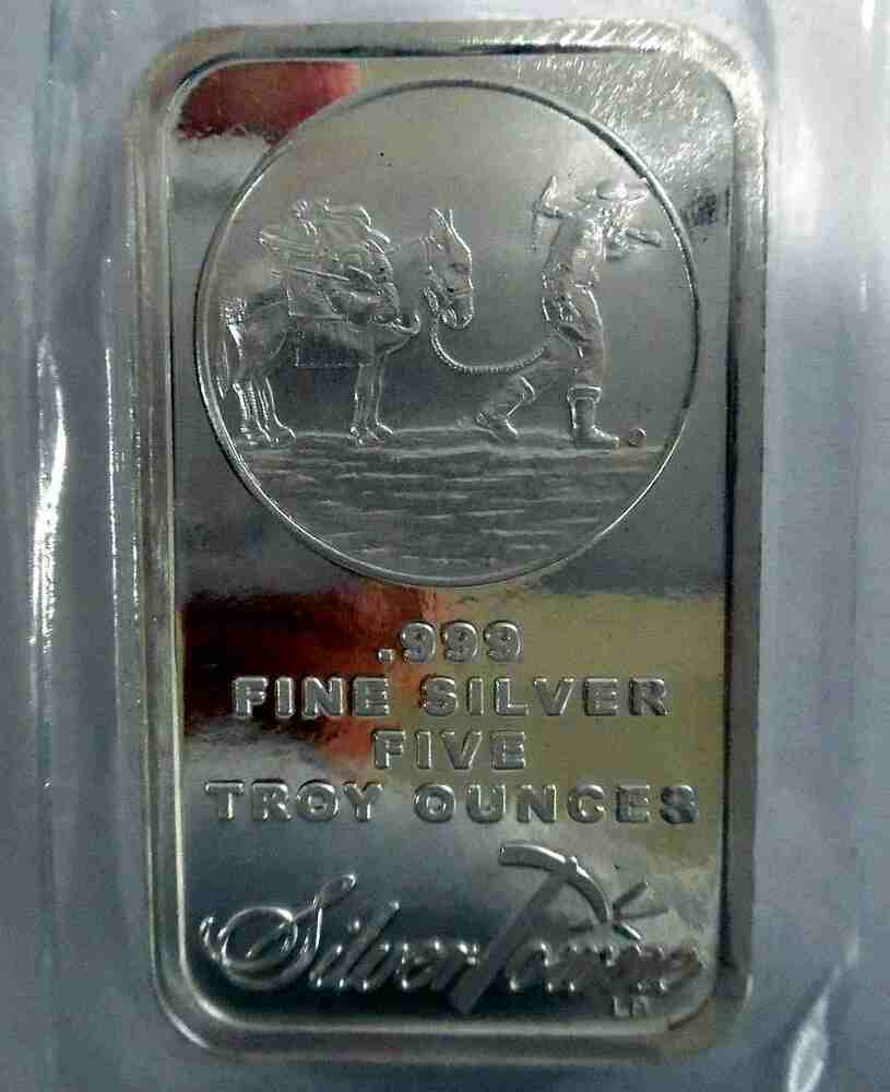 2 X 5 Oz Silver Bars 10 Ozs Prospector New Amp Sealed