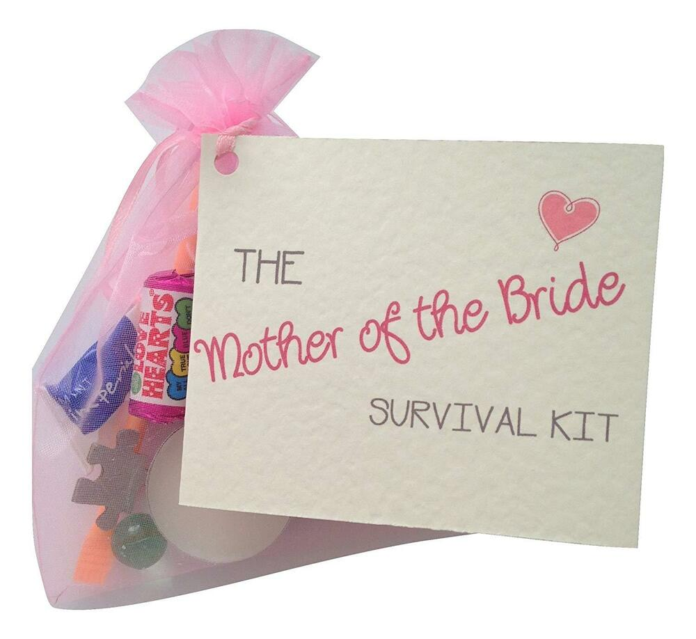 Bridal Gift From Mother: Mother Of The Bride Survival Kit. Thank You Gift&card